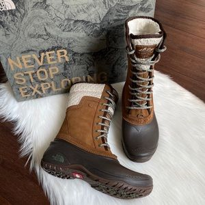 North Face Shellista II Brown Mid Winter Boots 8.5
